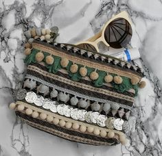 Ethnic Embellished Zip Pouch by RENIQLO on Etsy, £14.00