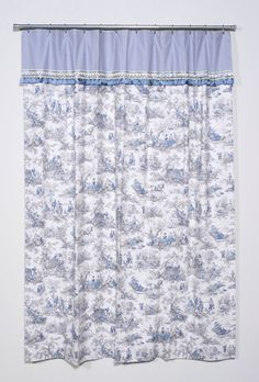 Delightful Items Similar To FOUR SEASONS TOILE   Blue U0026 White Extra Long Designer Shower  Curtain By Victoria Posey For Legacy Linen Group On Etsy