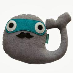 lukola handmade // Wieloryb Wąsaty melanż // Mustache Whale melange