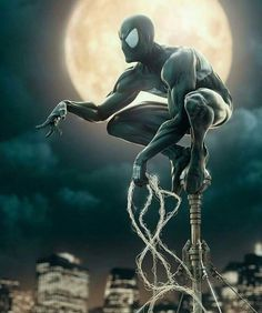 I wonder if will ever be in the black suit? This Venom Movie better not mess up that part of the story for Peter! Artist: Andre Holzmeister Key Film Dates:: Marvel - Avengers: Infinity War: Apr 2018 - Deadpool May 2018 -. Marvel Comics, Heros Comics, Marvel Comic Universe, Fun Comics, Marvel Art, Marvel Heroes, Amazing Spiderman, Black Spiderman, Spiderman Art
