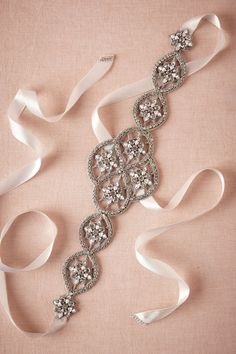 BHLDN Crystal Lattice Sash in  Shoes & Accessories Belts & Sashes at BHLDN