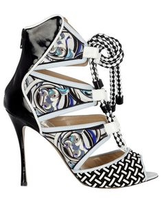 Nicholas Kirkwood for Peter Pilotto sandal, $1,295, 646-559-5239.    Read more: Spring Shoes 2013 - Designer Spring Shoes for Women - Harper's BAZAAR