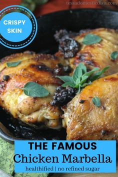 The flavor fo these succulent bone in chicken pieces will knock your socks off! Paleo and gluten free. Paleo Recipes, Real Food Recipes, Chicken Recipes, Chicken Marbella, Marinated Chicken, Meals, Dinners, Gluten Free, Tasty