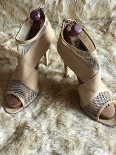 LOEFFLER RANDALL Beige Nude Leather Sandals Booties Size 9.5 B Italy $550 #LoefflerRandall #Booties #Party