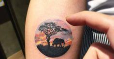 Tattoo Artist: Eva krbdk. Tags: styles, Illustrative, Nature, Landscapes. Body parts: Forearm.