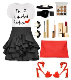 """""""Limited"""" by mamatoodie-1 ❤ liked on Polyvore featuring WearAll, Nicholas Kirkwood, Nasty Gal, Yves Saint Laurent, MAC Cosmetics, Rado, Rebecca Minkoff and plus size clothing"""