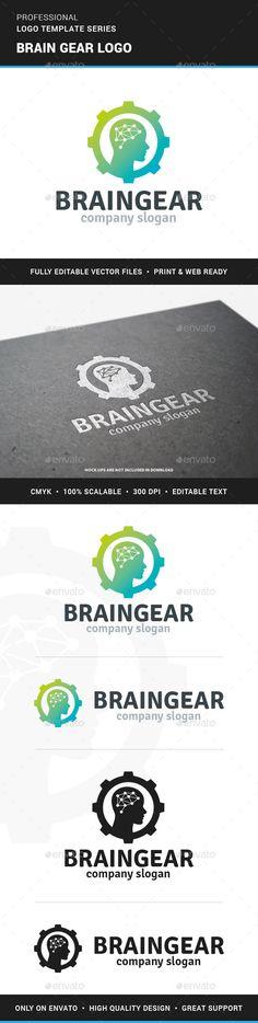 Brain Gear Logo Template #design #logotype Download: http://graphicriver.net/item/brain-gear-logo-template/13122702?ref=ksioks