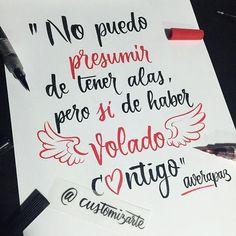 "RT ""@customizarte: ""No puedo presumir...""  #customizarte #alasparavolar … """