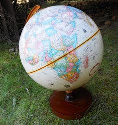 Vintage World Globe. $7.00, via Etsy.