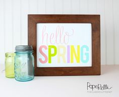 Hello Spring Printable - Classy Clutter