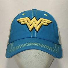 06959996a0c22 Wonder Woman Hat Adult Baseball Cap Womens Hats DC Comics Superhero T113  J9130  SixFlags