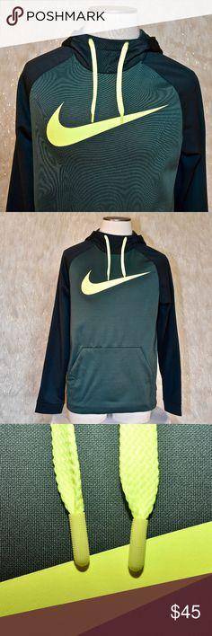 Nike Mens Big Swoosh Therma-Fit Hoodie Sweater Shirt Yellow//Black New
