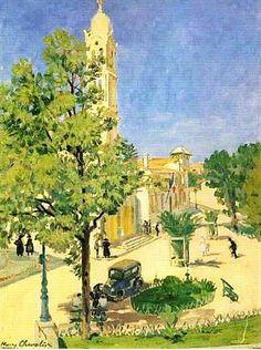 Henry Chevalier (1886 /1945) Titre « L'église d'El-Biar, Alger »