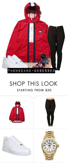 """;"" by theweeknd-obsessed ❤ liked on Polyvore featuring NIKE, Rolex, women's clothing, women, female, woman, misses and juniors"