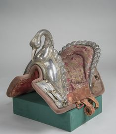 Saddle | India; Mysore | second half 18th century | wood, silver, leather | Hermitage | Inventory #:В.О.-1116