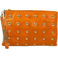 Moschino Cheap & Chic Tindra Clutch ($1,050) ❤ liked on Polyvore