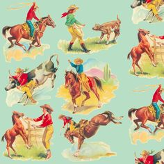 Cowgirl  Cowboy western Rode fabric by parisbebe on Spoonflower - custom fabric