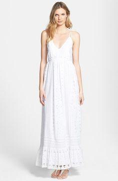 MICHAEL Michael Kors Eyelet Cotton Maxi Dress