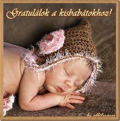 kisbabás képek, újszülött, baba született, babaköszöntők Crochet Hats, House, Ideas, Knitting Hats, Home, Haus, Houses, Thoughts, Homes