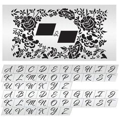 EMBROIDERED LACE MIX AND MATCH MONOGRAM SET DOUBLE BARREL BY JULIE DEFFENSE   Evil Cake Genius Monogram Stencil, Lace Stencil, Double Barrel, Embroidered Lace, Stencils, Cake, Kuchen, Templates, Stenciling
