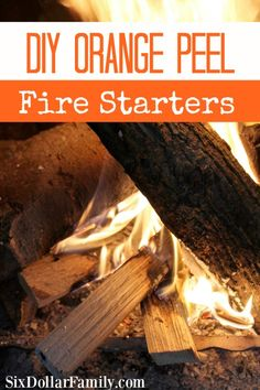 Outdoor Decorating/Gardening : DIY Orange Peel Fire Starters – Don't throw those orange peels away! Make these DIY Orange Peel Fire Starters instead! Great for your next camping trip or summer bonfire! Great for emergency preparation too! -Read More – Diy Camping, Camping Meals, Camping Hacks, Camping Stuff, 72 Hour Emergency Kit, Emergency Preparation, Herbal Remedies, Natural Remedies, Summer Bonfire
