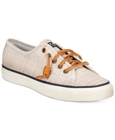 Casual, preppy style is a step away thanks to the Seacost sneakers by Sperry Top-Sider. | Twill upper; rubber outsole | Imported | Round-toe sneakers | Adjustable rawhide lacing system with rust-proo