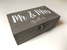 A beautiful, hand-painted wooden box, perfect for wedding/anniversary gifts. Just add a note to your order with your chosen personalised date!
