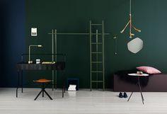 Hague blue et Studio Green Farrow & ball Green Rooms, Bedroom Green, Bedroom Colors, Interior Styling, Interior Design, Studio Green, Dark Walls, Blog Deco, Farrow Ball