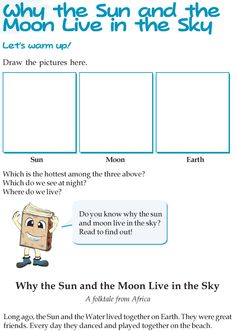 Grade 3 Reading Lesson 10 Fables And Folktales – Why The Sun And The Moon Live In The Sky