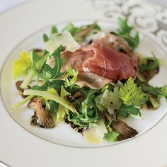 When he was a boy, Fabio Trabocchi loved foraging for mushrooms in the woods around his house. In this elegant salad, he tosses lightly sautéed oyste...