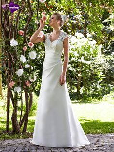 Robe de mariée Silène, robe de mariée avec transparence, robe de mariage avec…