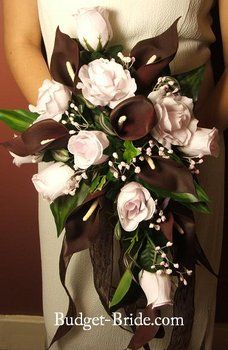 Wedding, Flowers, Pink, Brown - Bouquet
