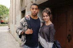 The Fosters cast. AJ and Callie