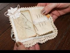 Needlebook: very simple just need some felt and a piece of fabric, stitch down center, embellish; great gifts