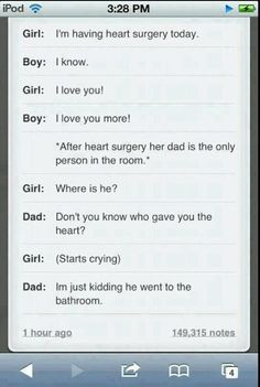 Do you realize how accurate this is for my dad?? Hahaha he would SOOOO do this!!