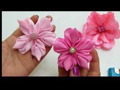 Hermosas Flores FÁciles de elaborar paso a paso, Tiaras para Bebe Tono Rosado - YouTube