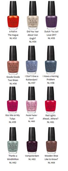 Timtam: OPI Holland Collection ~ Spring 2012 (Part 1)