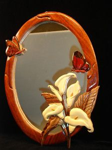 Intarsia Butterfly Mirror