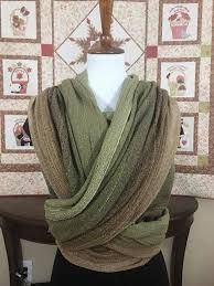 Etla Woodland Silk (tsumugi silk) Lime weft