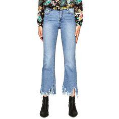 - Zara High-Rise Cropped Mini Flare Jeans, $30