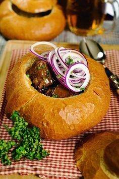 Ragout in bread - Cuisine of Czechia