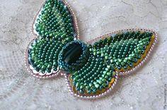 Брошь бабочка вышитая бисером