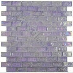 Purple Uniform Brick Purple Bricks Glossy & Iridescent Glass Tile- perfect for a lavender bathroom /// small line possible Lavender Bathroom, Purple Bathrooms, Purple Rooms, Purple Kitchen, Purple Interior, Kitchen Redo, Kitchen Paint, Kitchen Ideas, My Pool