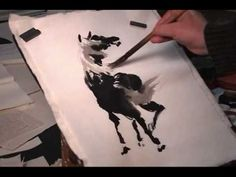 ▶ How to Draw a Black Horse in Back View - Henry Li