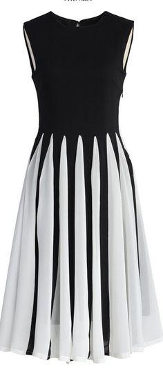 mesh striped skirt dress