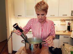 Mentás zöldborsó leves