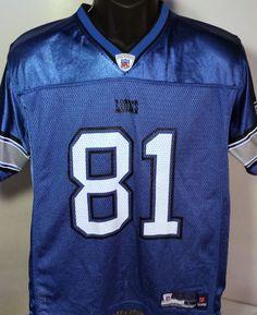 Detroit Lions #CalvinJohnson Youth Size Large Reebok Jersey #Reebok #DetroitLions #nfl