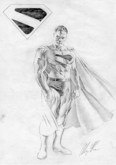 Alex Ross KINGDOM COME Superman prelim Comic Art follow @artofcomics for more! Thanks guys.