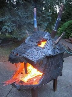 Dragon Head Fireplace