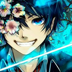 Rin Okumura ~ Ao no Exorcist / Blue Exorcist I Love Anime, Awesome Anime, Anime Guys, Manga Anime, Anime Art, Kuro Ao No Exorcist, Blue Exorcist Anime, Rin Okumura, Hetalia